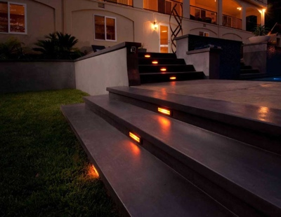 Sealed concrete stairs