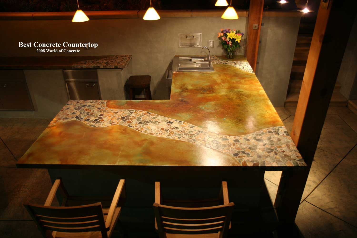 Decorative Concrete Interior Countertops