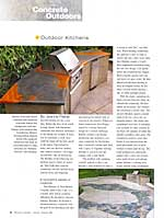 Jan Feb 2007 Residential Concrete-Outdoor Kitchens