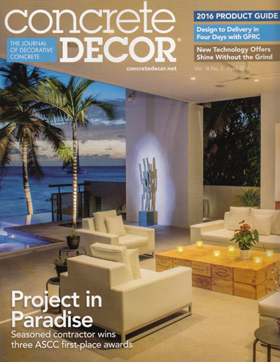 April 2016 Concrete Decor Cover