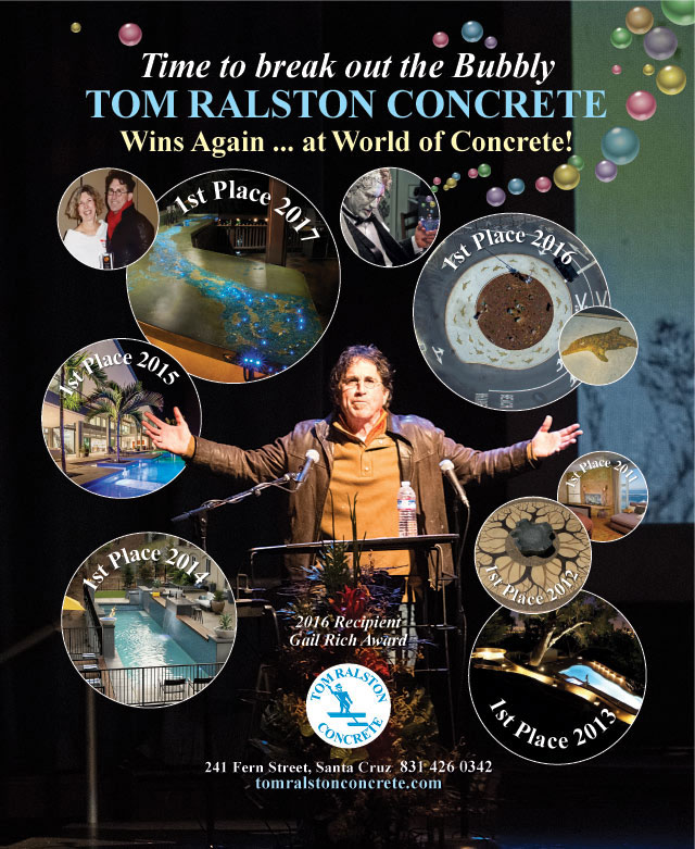 World of Concrete 2017 7 Years of Awards for Tom Ralston Concrete