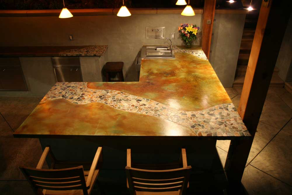 The Results Were Amazing And The Judges For The Decorative Concrete Council  In The American Society Of Concrete Contractors Agreed; The Magid Countertop  Won ...