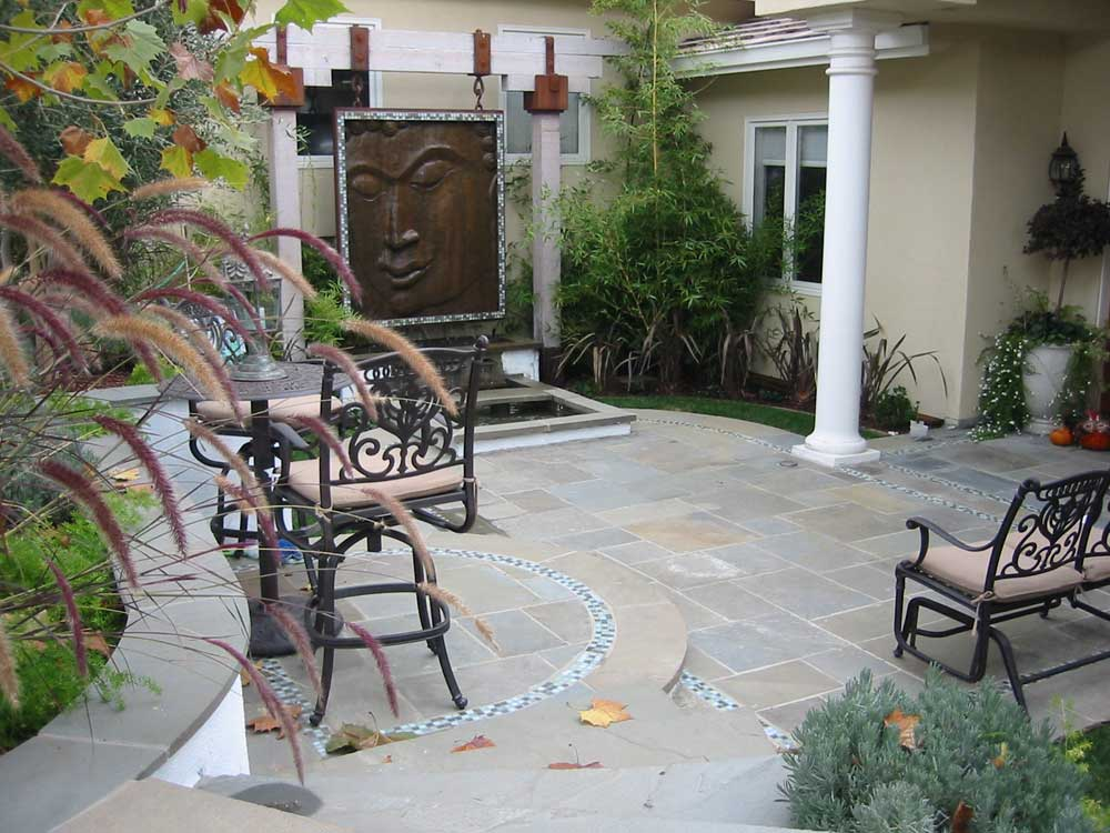 ... Border That Meandered Throughout The Connecticut Bluestone Patio And  Porch Area. The Result Is A Serene And Peaceful Setting Appropriate For  Meditation, ...