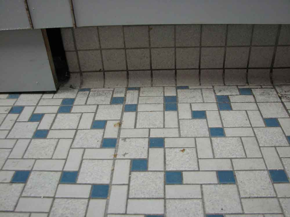 ... Cement And Color To Cover Over The Dated Tiles Which Gave The New  Floors An Entirely New, More Modern Look But Also Served To Make The Room  Appear ...
